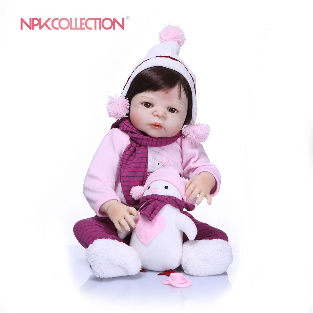 NPKCOLLECTION 57CM Full Silicone Reborn Dolls Vinyl Baby Realistic Doll Reborn Children Birthday Gift ToysFor Girls Bebes RebornNPKCOLLECTION 57CM Full Silicone Reborn Dolls Vinyl Baby Realistic Doll Reborn Children Birthday Gift ToysFor Girls Bebes Reborn