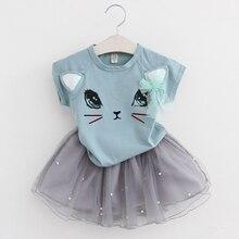 Toddler Girl Top+Skirt 2-6Y Set