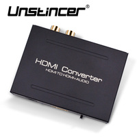 UNSTINCER 4K HDMI Audio Extractor Converter HDMI To HDMI Optical Toslink SPDIF RCA L R Stereo