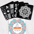 5Pcs/set BORN PRETTY 6*6cm Square Nail Art Stamp Template Pretty Image Plate BP-X11~X15