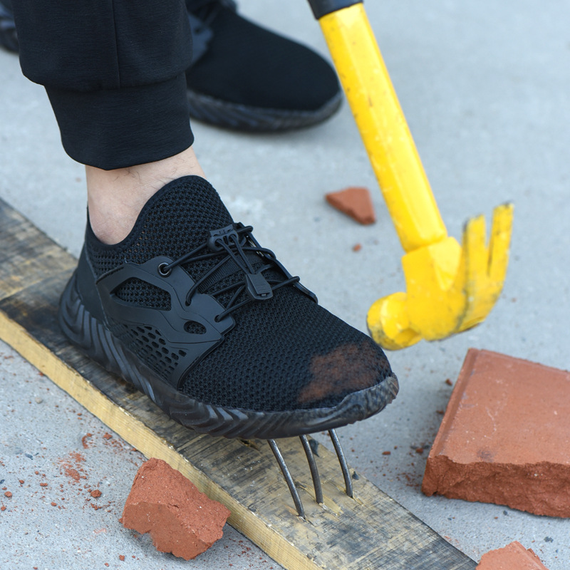 Shoes Cross-border For Portable Air Permeable Flying Weaving Anti-piercing Electrical Insulation Safety Labor Insurance Shoes