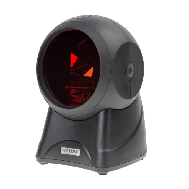 NETUM лазерной планшетный сканер штрих-кода 20 линий Настольный многонаправленный считывания штрих-кода на платформе для Pos Системы супермаркет
