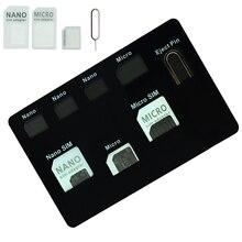 Набор адаптеров для сим-карт и нано-сим держатель для карт Чехол С телефонным штырьком качество сим-карты, набор конвертеров для нано микро сим-карты