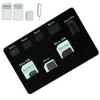 Juego de adaptadores para tarjetas SIM y estuche para portatarjetas NANO SIM con aguja para teléfono calidad sim, juego de convertidor para tarjeta micro sim nano