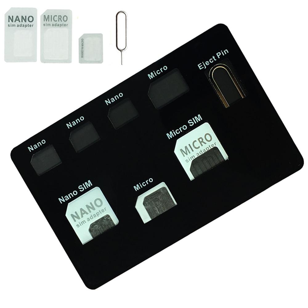 SIM Card Adapter Set & NANO SIM Card Holder Case With Phone Pin Needle  Quality Sim ,Converter Set For Nano Micro Sim Card