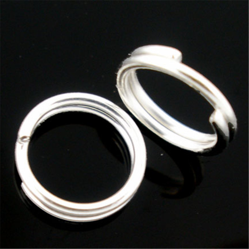 DoreenBeads 400 PCs Silver color Double Loops Open Jump Rings 8mm Dia. Findings (B04161), yiwu цена