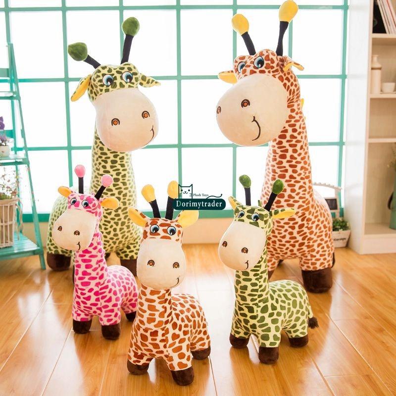 Dorimytrader New 100cm Giant Cute Soft Cartoon Giraffe Plush Toy Stuffed Animal Giraffe Doll Pillow Kids