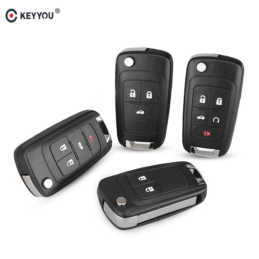 KEYYOU For OPEL/VAUXHALL For Astra J Corsa E Insignia Zafira C 2009 2010 2011 2012 2013 2016 Flip Folding Remote Key Case(China)