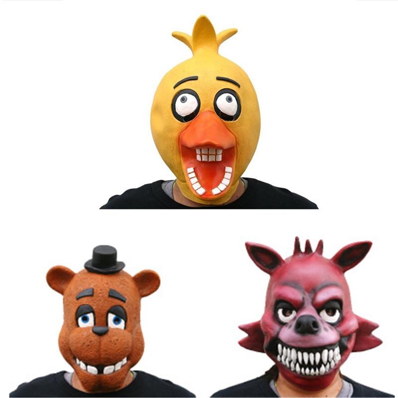 The Five Nights at Freddys Mask Halloween Masquerade Freddy Bonnie Chica Foxy Anime FNAF Collectible Fazbear Toy Doll L2079