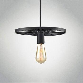Retro Loft Industrieel Fietswiel Plafondlamp 3