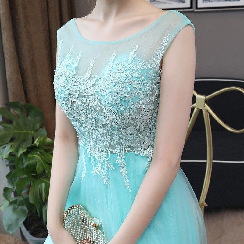 CEEWHY Robe de soirée bleu clair dos ouvert Robe de soirée Longue 2018 Robe de soirée élégante robes de soirée Longue Robe de Noiva - 5