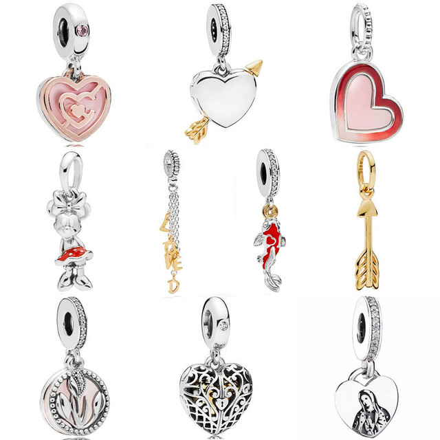c81d6f0f9 Shine Arrow Rose Path To Love Loved Script Classic Minnie Pendant Charm Fit  Pandora Bracelet 925 Sterling Silver Bead Jewelry