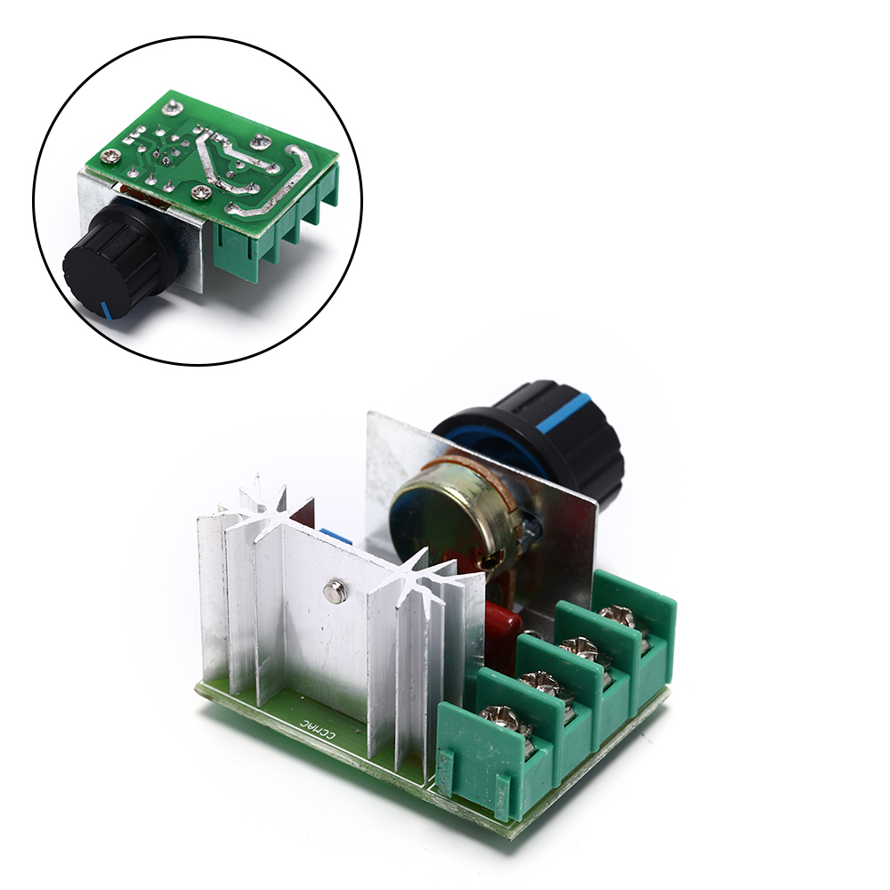 Silicon Controlled Rectifier SCR Voltage Regulator Speed Control Temperature Thermostat 2000W Thyristor Electronic Dimmer 220V