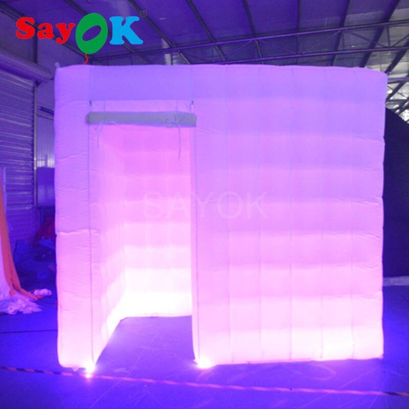 Бесплатная доставка 17 видов цветов надувные палатки led для свадьбы/вечерние/события надувные Photo Booth киосков используется ткань Оксфорд для ... ...