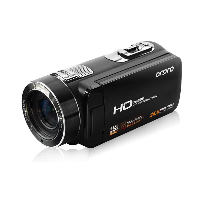 Ordro HDV-Z8 HD Digital 24 Mega Pixel Video Camera Camcorder, 16* Digital Zoom with Digital Rotation LCD Touch Screen 17Otc16 hot sale easy use hd 720p 12m 8x digital zoom video camcorder camera gift for family happy recording 1pc