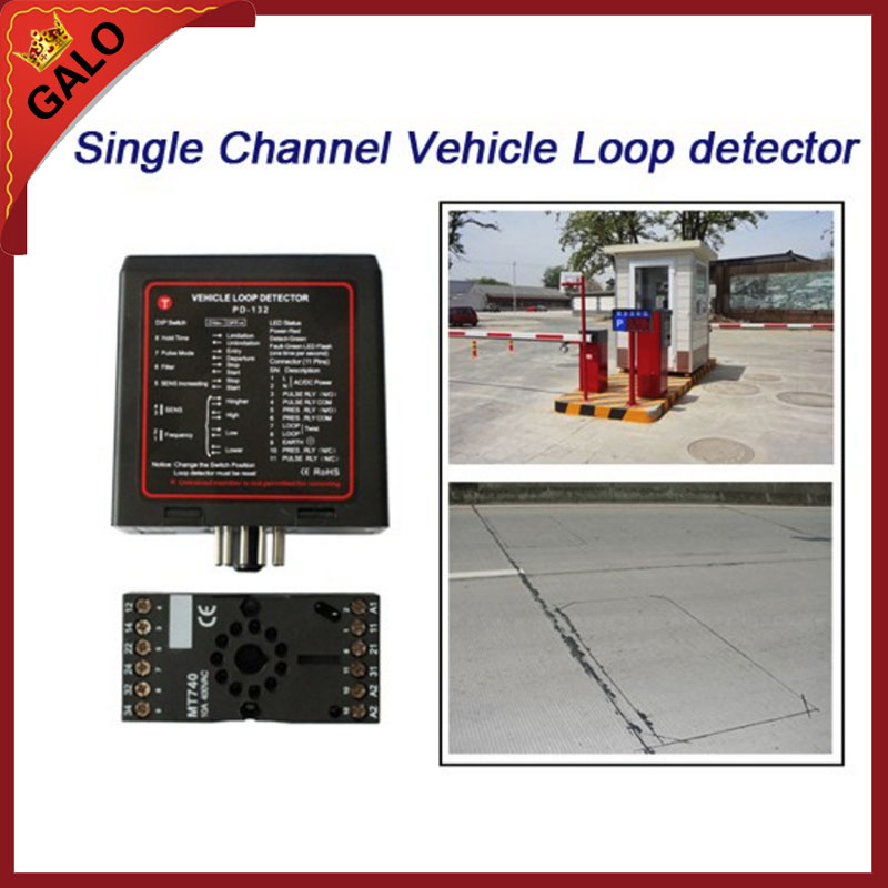 GALO single channel inductive vehicle loop detector controller module for BFT CAME NICE barrier gate opener motor automatic gate and barrier gate single channel inductive loop detector loop controller traffic counters dc12v dv24v 110v 220v