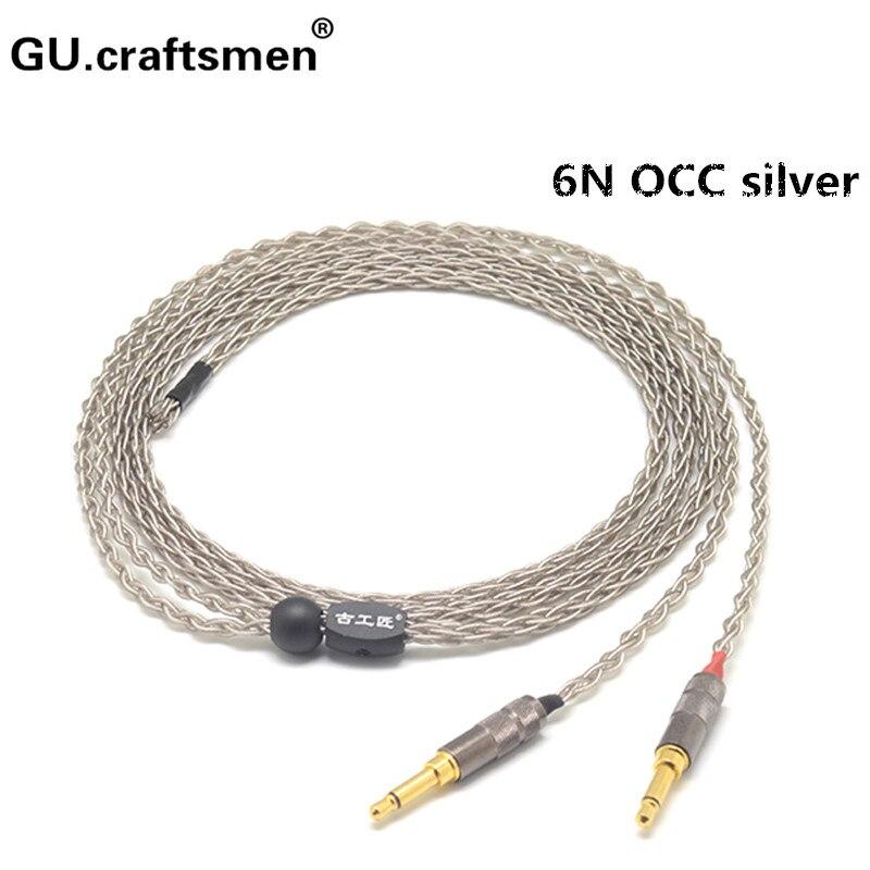 6n occ argent elear d8000 MDR-Z7 t1 t5p sw01 sw02 4.4mm Balanec câble 2.5mm équilibre Casque câble À La Main