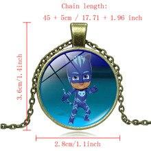 Cartoon PJ MASKS Christmas Necklace Children PJ MASK Necklace Girls Best Gift Anime Kids Action Figures Toys A31
