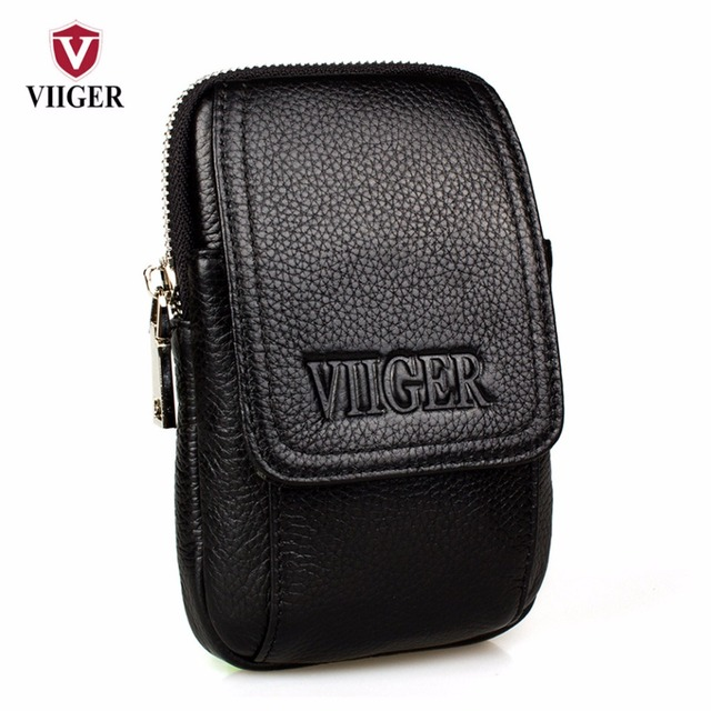 Genuine Leather Mens Travel Fanny Pack Waist Pack Cell Phone Pouch Smartphone Holster Bag Hip Purse Belt Bag Waist Bag Belt Loop