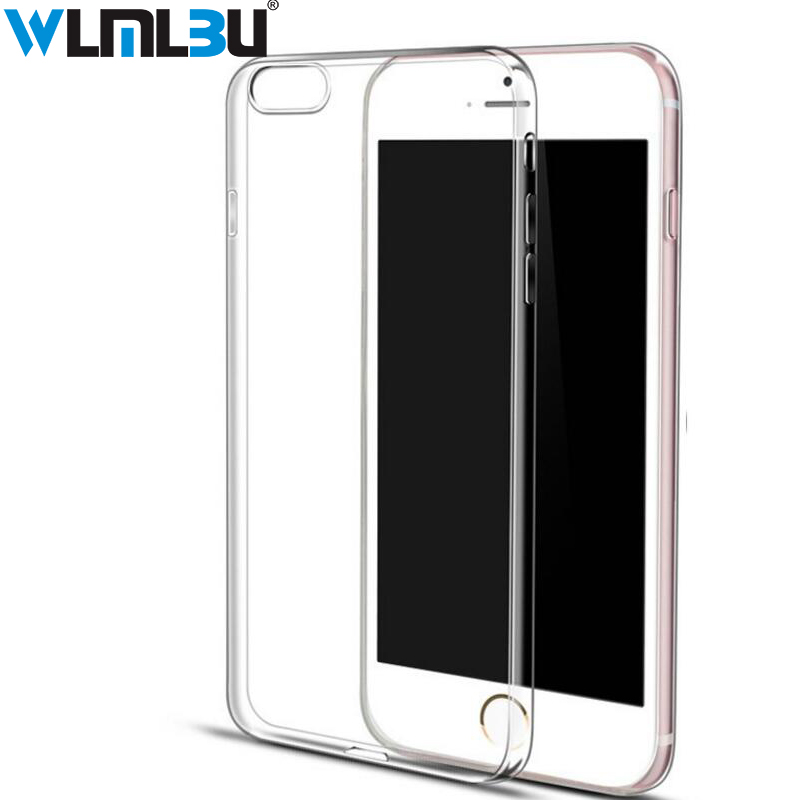 WLMLBU Ultra Thin Soft Transparent TPU Case For iPhone 8 8 7 Plus 7 Clear Silicone Full  ...