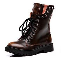 5de4af372155 Hot Selling Vintage Rivet Women Genuine Leather Motorcycle Boots Fashion  Punk Stud Skull Lace Up Ankle Boots Ladies Martin Boots