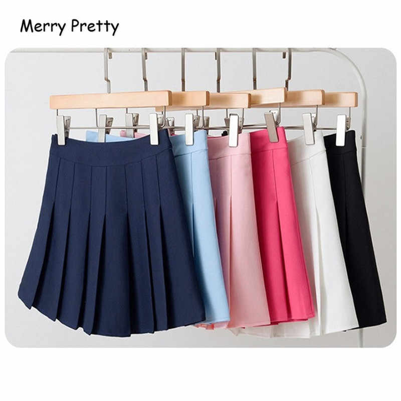 4f13d7ebfd ... Merry pretty High Waist Short School Pleated Skirt Women's Mini Sexy  Pink Summer Skirts Womens Leggings ...