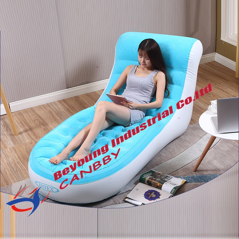 Intex Inflatable Chairs Chair Covers For Roll Top Dining Blue Splash Lounge L Shape Soft Pvc Sofa With Backrest Puncture Resistant Bottom