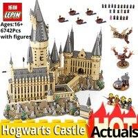 Новый Лепин 16060 Гарри фильм Поттер Совместимость legoinglys 71043 Замок Хогвартс Волшебная Школа Модель Набор строительных игрушки для детей