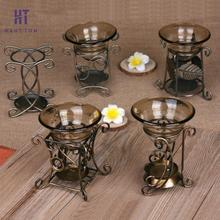 Iron Rack Aroma Burner Big Capacity Essential Oil Burner Retro Fragrance Stove Candle Furnace Aromatherapy Lamp