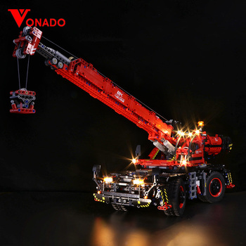 Led light for LEGO Mechanical Group 42082 Complex Terrain Crane for lego Technic series Boy girl Building Block Toy (only light)