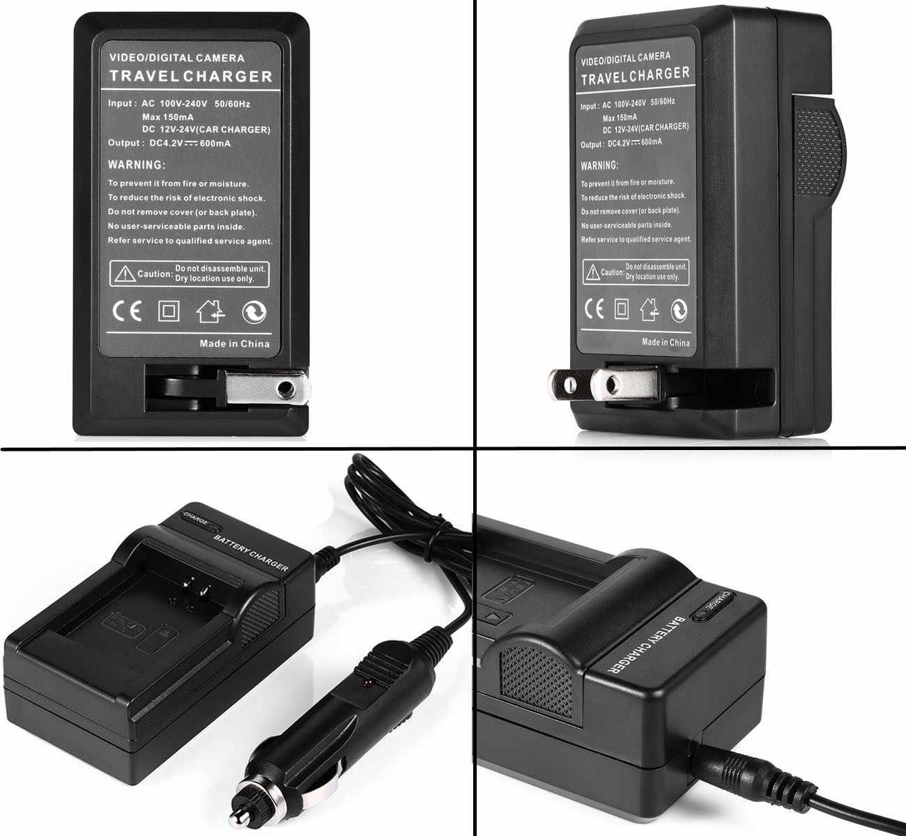 Cargador De Batería Para Sony DCR-DVD605 DCR-DVD608 DCR-DVD610 DCR-DVD650 DCR-DVD653