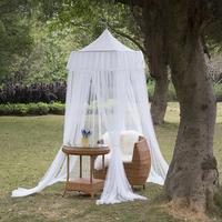 White Tulle Mosquito Net Square Top Bed Canopy for Kids 4 Doors Princess Play Tent Lace Netting Bedding Summer Mosquito Nets