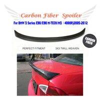 Carbon Fiber Rear Boot Spoiler Lip Wing for BMW 330i 335i E90 M Sport 2005 2012 Trunk Trim Sticker Custom Spoiler