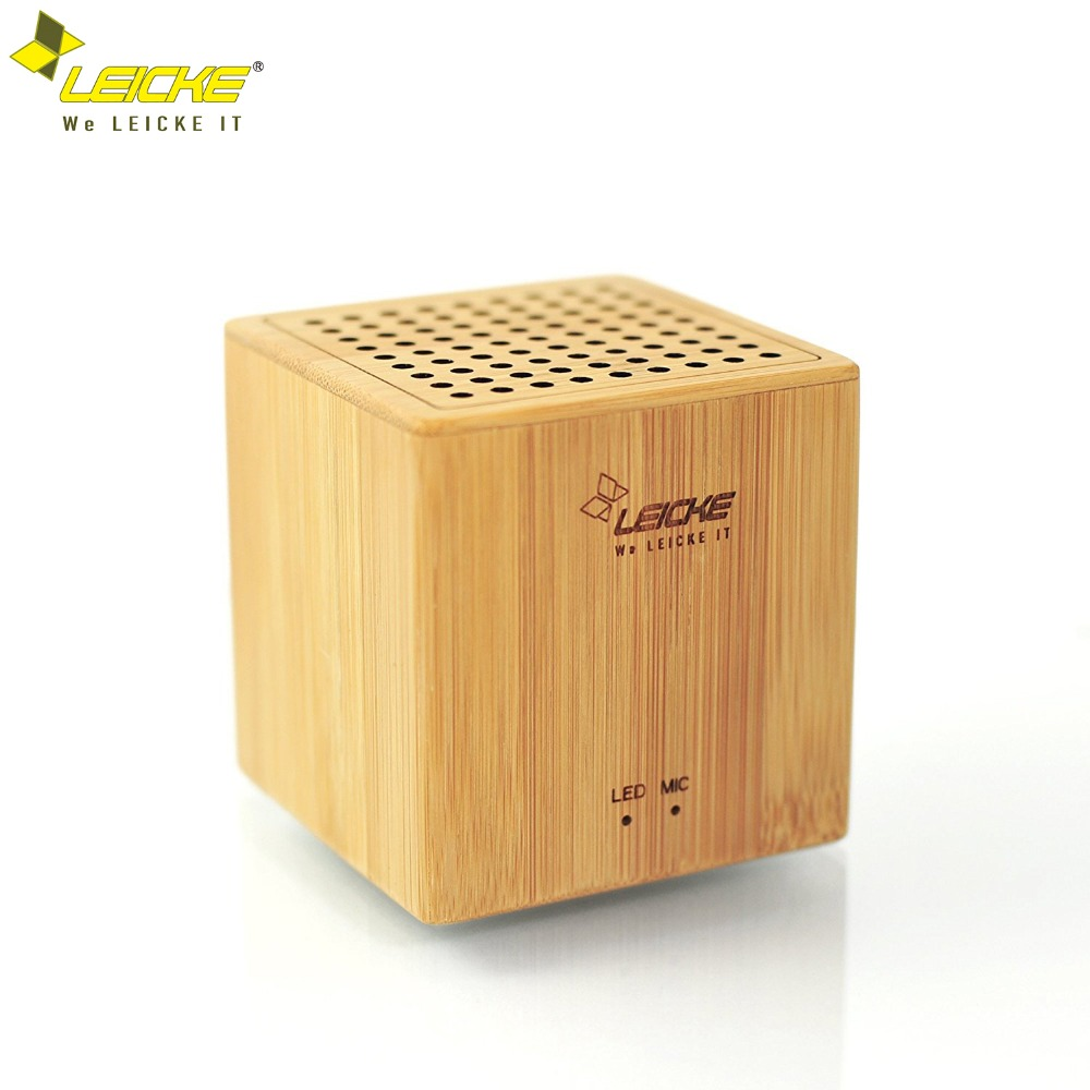 LEICKE Bluetooth Portable Wireless Gift Speaker with FM Radio Microphone Aux Input 3D Stereo Music Supper Bass NFC
