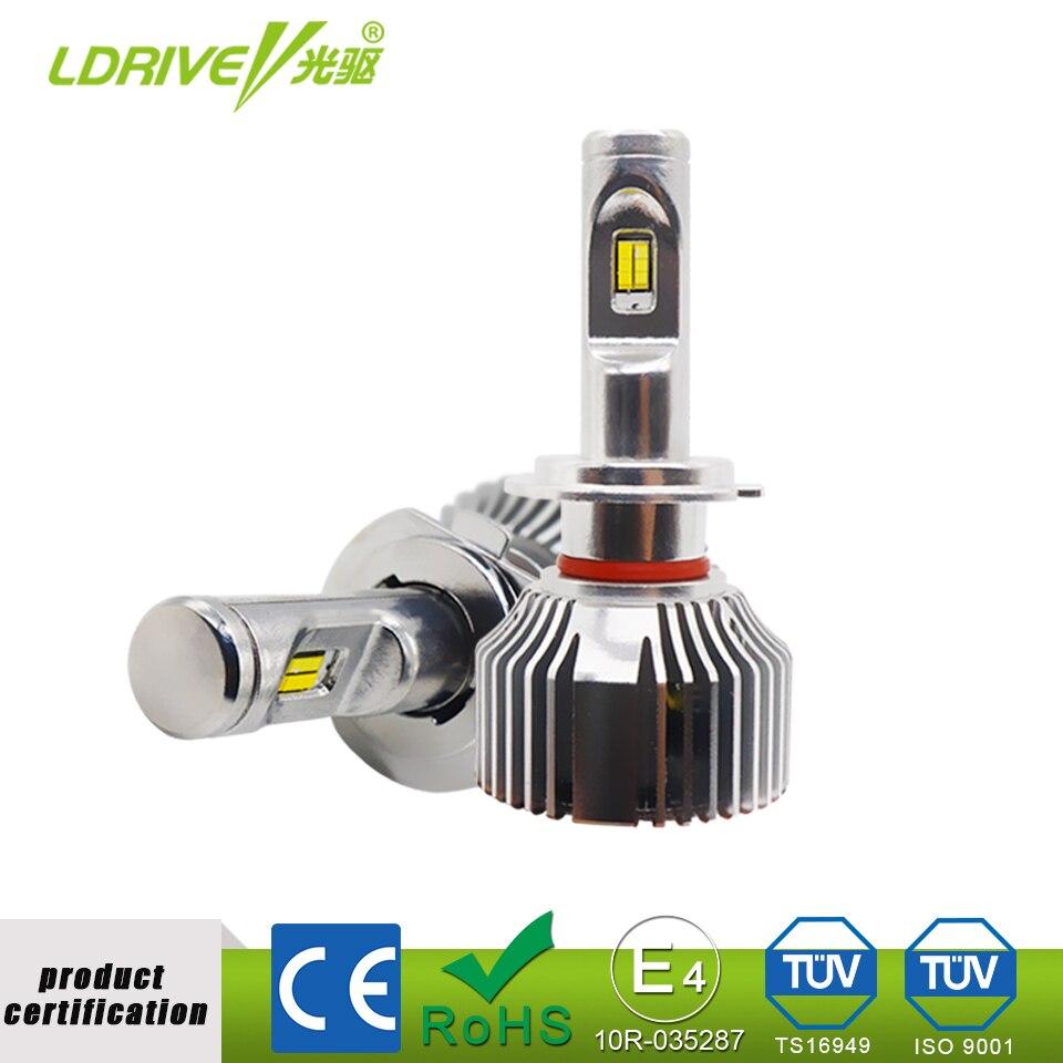 LDRIVE V8 LED Car Headlight Bulb 48W 4800LM 6000K 3000K 4300K Auto LED Headlamp 3 in 1 Fog Light H1/H3/H4/H7/H11/9005/9006/880 cool silver 2 pcs h11 led copper strips cooling r4 6000k 4800lm led lamp for car
