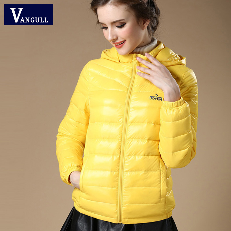 New 2017 Winter Autumn Women 90% White Duck   Down   Jacket Women's Hooded Light   Down   Jackets Warm Winter   Coat   Parkas High Quality