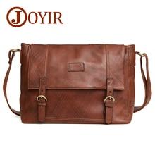 JOYIR Fashion Genuine Leather Crossbody Bag For Men Shoulder Bags Business Mens Briefcase Handbags Messenger Male 6350