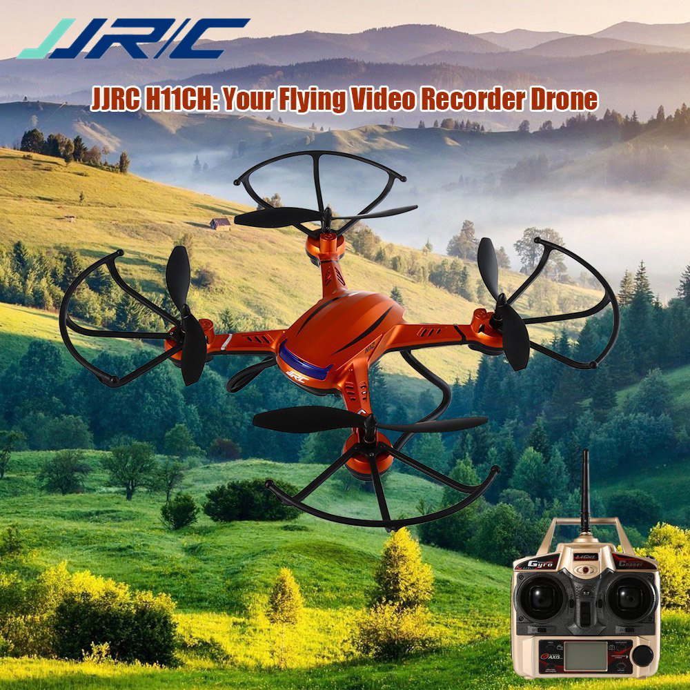 JJRC H12CH 4CH 2.4G RTF 6 Axis Gyro Air Press Altitude Hold with LCD HD Camera Enjoy Outdoor Indoor RC Quadcopter Christmas Gift jjrc 1000a 2 4g 4ch 6 axis gyro rc quadcopter lcd remote controller