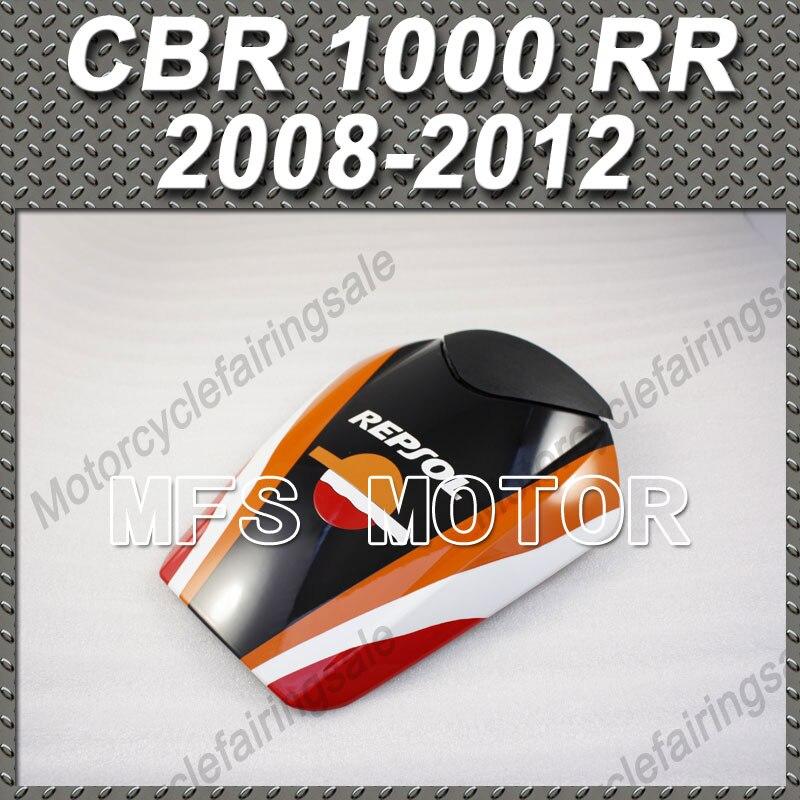 Peça da motocicleta Pillion Traseira Do Assento Cowl Capa Preta Para Honda CBR 1000 RR 2008 2012 09 CBR1000RR 10 11 Repsol