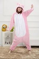 Warm Winter Pink Cat Onesie Pajamas Sleepwear Pyjamas Cosplay Halloween Costume Winter Spring Men Women Adult