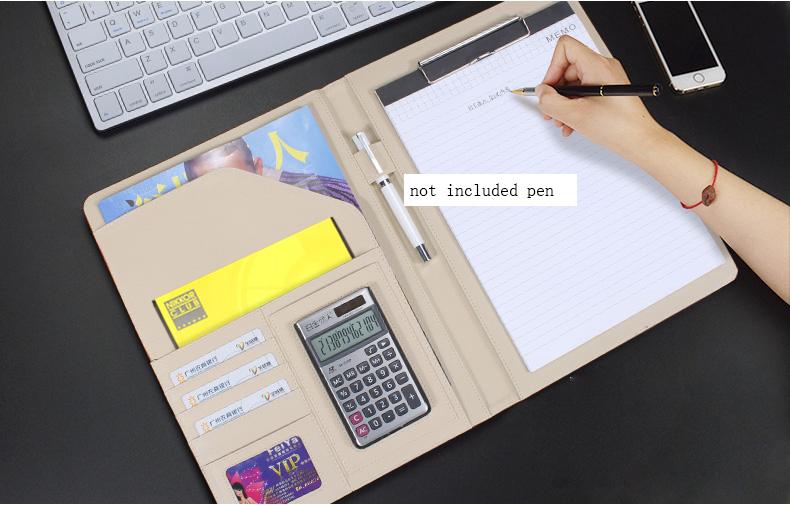 PU leather folder (1)