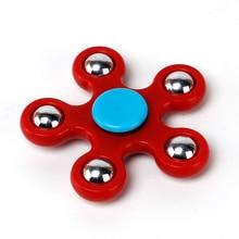 Hand Fidget Spinner ABS Plastic Tri Spinner tri-spinner Five-pointed star Fidget SpinnerToy