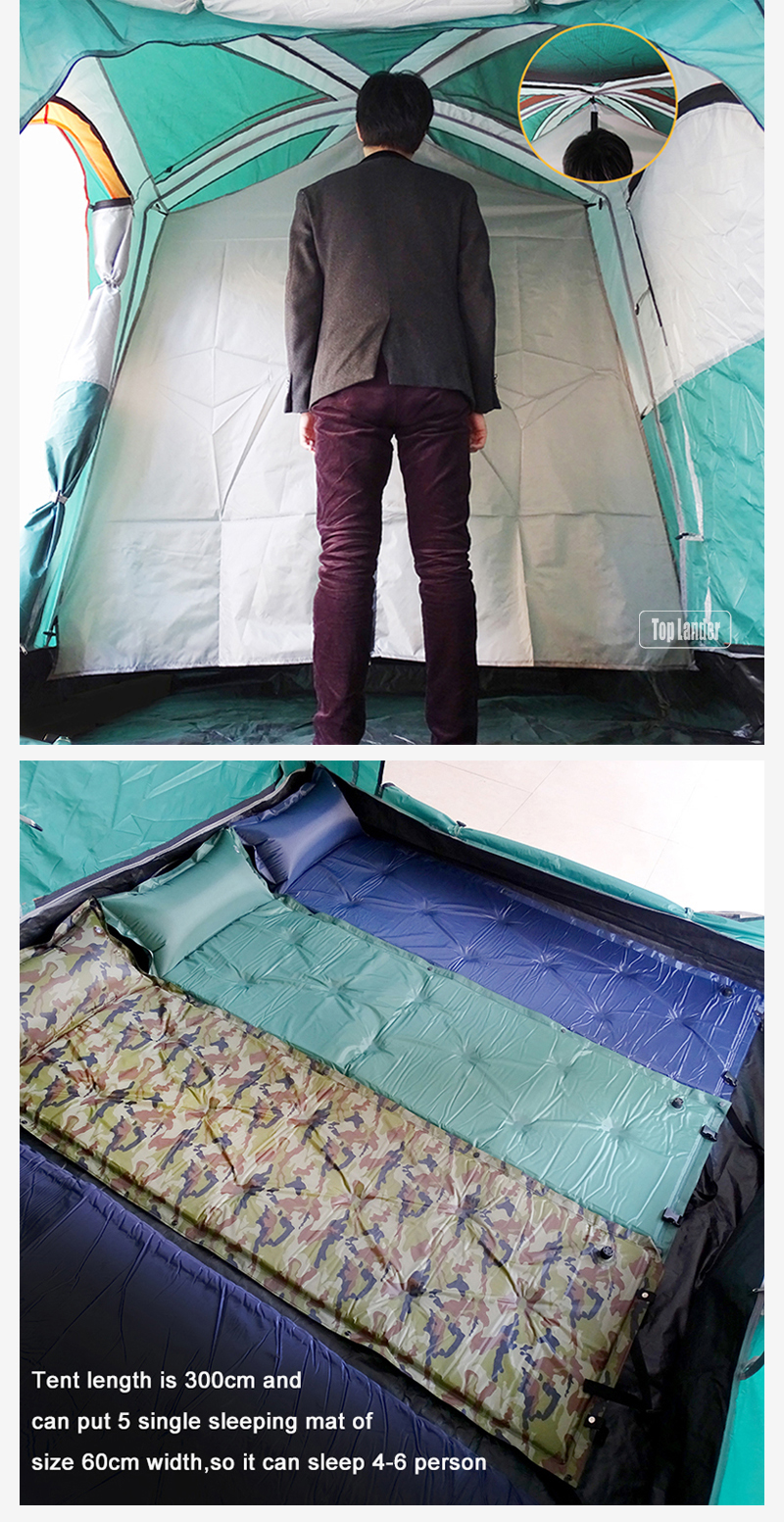 Large Family Two Bedrooms Camping Tent For 4 6 Person jonjoin
