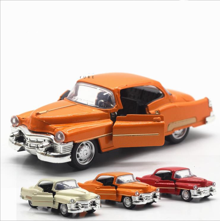 1:36 Alloy Pull Back Car Models,high Simulation Cadillac Retro Vintage Car,metal Diecasts Toy Vehicle,kid's Gift,free Shipping