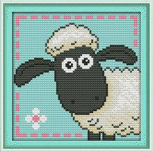 Cute Sheep Cross Stitch Kits Printed Patterns Canvas Embroidery Needlework Set Fabric Easy DMC Child DIY Home Decor