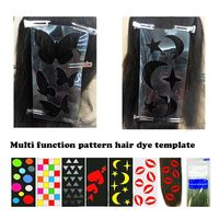 6 Pcs Set Tint Template Stamp Hairdressing Tools Plastic Printing Plate DIY Hair Dye Tattoo Color