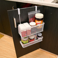 New Practical Cabinet Basket Carbon Steel Hanging Racks For Spices Bottle Kitchen Storage Shelf Drawer Door