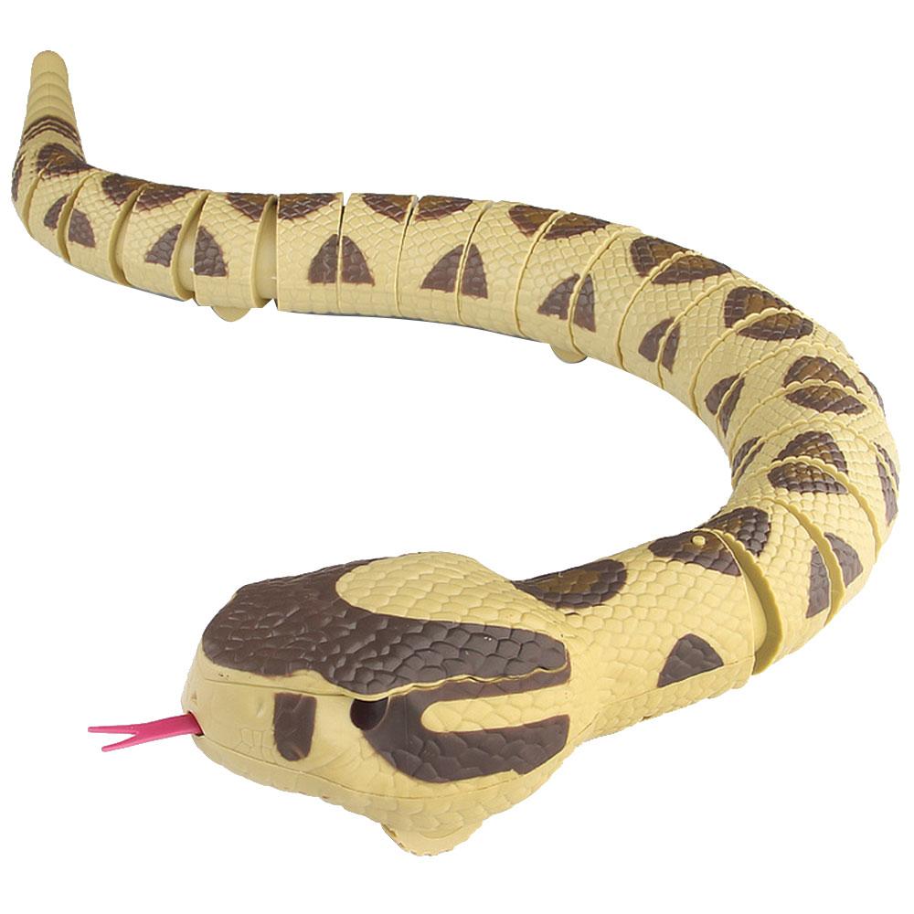 Большой забавный RC змея игрушка желтый 77 см пульт дистанционного управления ABS инфракрасный управление трюки игрушки