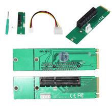 NGFF M2 to PCI-E 4x 1x Slot Riser Card Adapter Male To Female PCIE Multiplier For BTC Miner Mining Machine with Converter Card(China)
