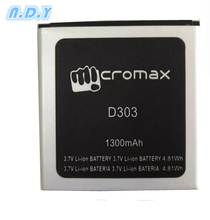 New High Quality Micromax D303 1300mAh Li-ion Battery for Micromax  D303 Mobile phone стоимость